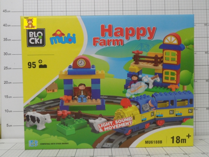 KLOCKI BLOCKI MUBI HAPPY FARM 95EL.     6921349660806