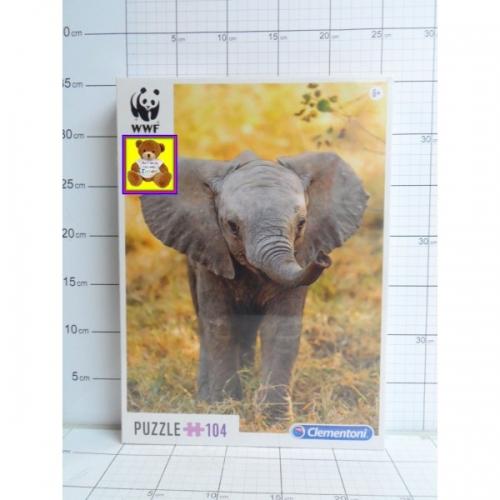 CLE.PUZZLE 104EL.WWF-SŁOŃ KK9999