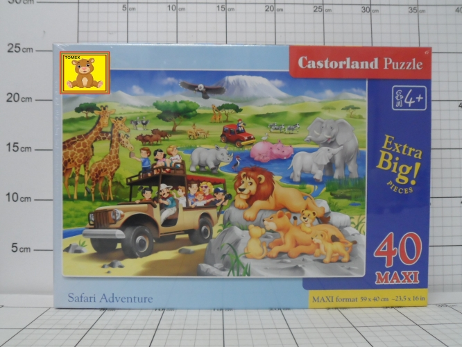 CAS. PUZZLE 40EL. MAXI SAFARI ADVENTURE KK5904438040322